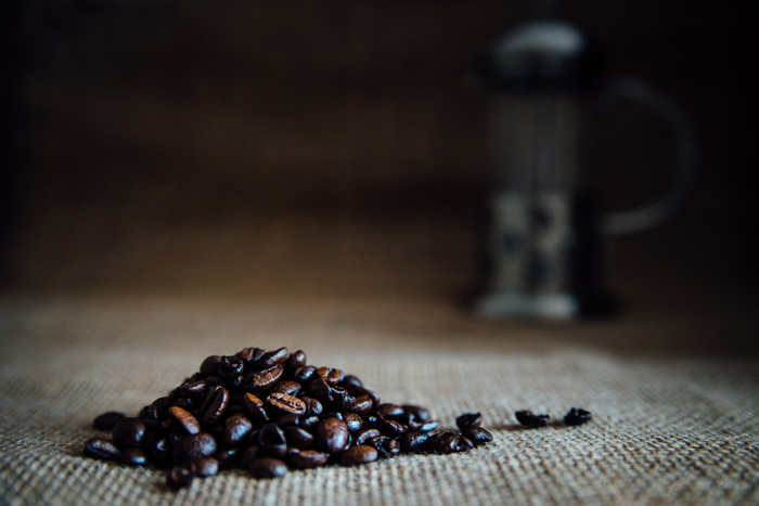 Food photography, coffee beans