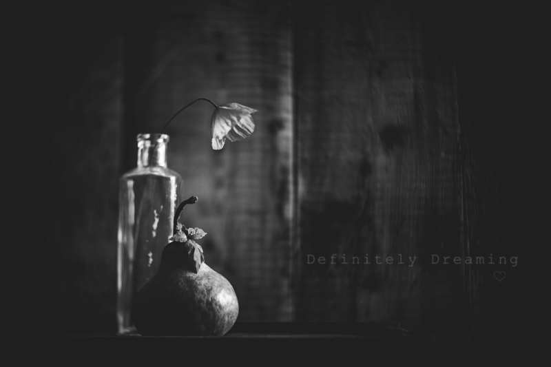 Black and white still life photography,