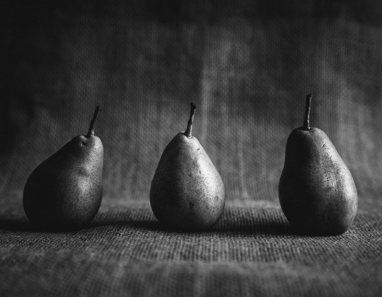 Food photography in black and white
