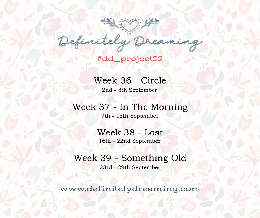 Weekly photo project prompts for September